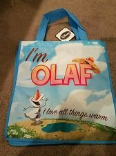 Disney Frozen I'm Olaf Reusable Tote Gift Shopping Bag