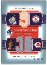 TED WILLIAMS/KEN GRIFFEY JR. 03 UD SP AUTHENTIC DUAL JERSEY CARD #43/406!