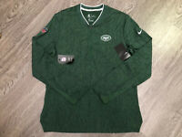 New York Jets Nike NFL On-Field Sideline Coaches Half Zip Pullover Jacket M $85