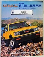 1984 GMC S-15 JIMMY DEALERS ADVERTISING SALES BROCHURE GUIDE VINTAGE