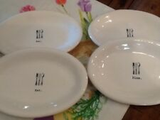 Rae Dunn ICON Ovals Set 4 EAT 2 DINE 2 Plates