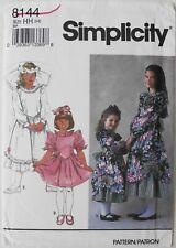 Simplicity 8144 Girls Dresses 2 Lengths Sewing Pattern Sz 3-4-5-6