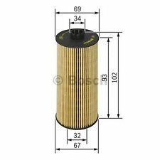 BOSCH Element Oil Filter F026407010 - Single