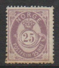 Norway - 1884, 25 ore Dull Mauve stamp - M/M - SG 79