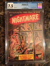 Nightmare #12 CGC 7.5 Kubert Pre Code Horror Bondage Cover 3RD HIGHEST/UNPRESSED