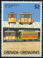 1876 BALDWIN STEAM MOTOR DUMMY Street Railways 0-4-0 Train Stamp (1989 Grenada)