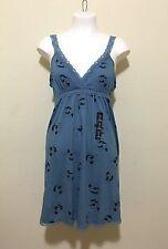 GAP WOMEN SLEEPWEAR FLORAL DRESS - BLUE / LARGE