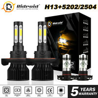 4x 4side LED Headlight H13 2504 Fog Lamp Bulb For Jeep Patriot Wrangler 11-19