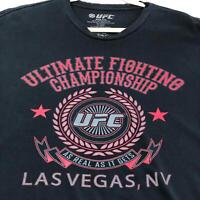 UFC Las Vegas NV As Real As It Gets Adult Short Sleeve Graphic T Shirt XXL Black