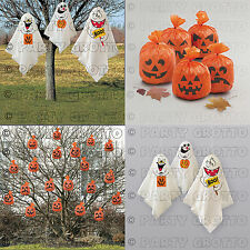 HALLOWEEN PARTY HANGING DECORATIONS INDOOR ~ OUTDOOR GHOSTS & PUMPKINS