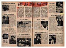 1959 DOCUMENT (ref Lim 0571)  AUTO  : PILOTES DE COURSE AS DU VOLANT  2 pages