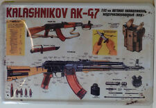 KALASHNIKOV ak-47 UDSSR Ametralladora Letrero de metal 20 x 30cm (BS 295)