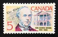 Canada #484 MNH, George Brown - The Globe and Legislature Stamp 1968