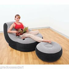 Intex Inflatable Ultra Lounge with Ottoman 68564