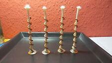 4 Dochthalter mit 3 mm G,Dochte Spirale,Fackel Für Kerzenreste Schmelzlicht