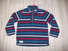 Joules Rugby Striped Funnel Neck Jumper Fleece Top 6 Years