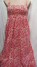PINK Tropics sun holiday beach strappy Maxi DRESS / skirt size 22 VISCOSE crepe