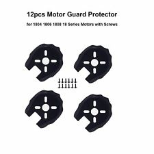 Black 12pcs Drone Motor Guard Protector Caps Plastic Cover for Quadcopter Kits