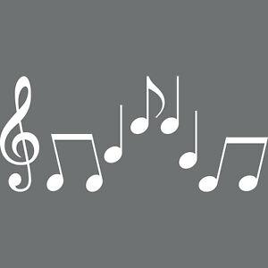 Notes Set S Clef Violin Key Music Car Sticker Tattoo Deco