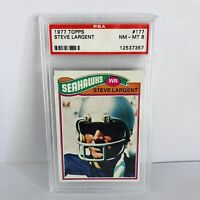 Steve Largent 1977 Topps PSA 8 Rookie Card #177 Seahawks HOF