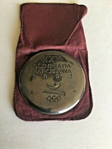 Participation Medal for 1992 Barcelona Olympics with Original Pouch