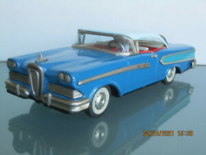 """1958 EDSEL COUPE TIN TOY FRICTION CAR BY HAJI OF JAPAN 11"""" NO RESERVE"""