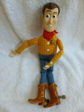 "1999 Mattel Disney Pixar Toy Story Woody Sheriff Cowboy Doll 12"" Plush Stuffed"