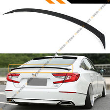 FOR 2018 HONDA ACCORD 10TH GEN SEDAN MATT BLACK JDM SPORT FIT TRUNK LID SPOILER