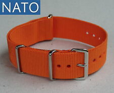BRACELET MONTRE NATO 20mm (orange) dive mechanical military chronograph watch