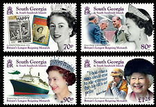 South Georgia 2015 Longest Reigning Monarch 4v set MNH