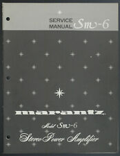Marantz Modèle SM-6 Original Amplificateur Stéréo Service Manual / Diagram /