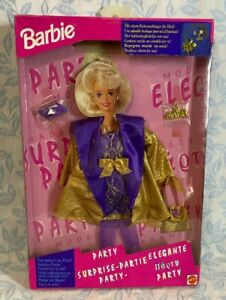 MATTEL Barbie Party Fashions Gold and Purple Dress and Jacket from 1994 #12179