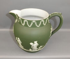 WEDGWOOD JASPERWARE TEAL GREEN DIP PITCHER MILK JUG (DUTCH) SACRIFICE 1864