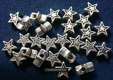 Star spacer jewelry beads 25 Silver plated zinc 6mm beads filler beads fpb044