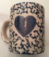 Gibson Housewares Coffee Mug Cup, blue, hearts