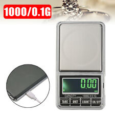 LCD USB 1000/0.1g Digital Electronic Scales Pocket Weighing Scale Jewellery Tool