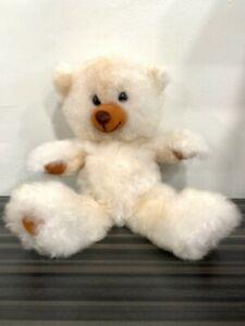 Handmade Peruvian 100% Baby Alpaca Fur Teddy Bear (12 inches approx) Light Beige