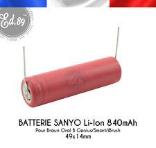 840mAh Li-Ion Sanyo Ersatz Akku Braun Oral B 3765 Genius Smart iBrush