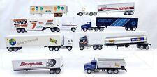 1-64 Die Cast Semi Truck Lot Winross & Ertl 6 Trucks & 2 Extra Backs