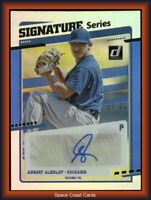 2020 Panini Donruss Signature Series Blue /99 Adbert Alzolay #SS-AL Rookie Auto