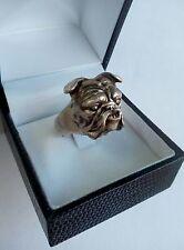 Anello in argento 925 cane bulldog inglese silver ring dog