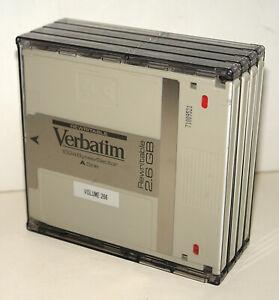 """4-Pack of Verbatim 5.25"""" 2.6 GB 1024 B/S Magneto Optical MO Disk Cartridges"""