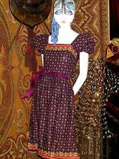 💜Vintage Samuel Blue Mutton Top Sleeve Party Dress~Super Cute