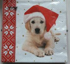 20 Servietten  Serviettentechnik Christmas Dog Hund Weihnachten Stewo 33x33