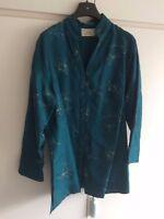 Stunning Ladies Jacket. 100% Embroidered Silk. Ann Harvey. Size 20. Blue. BNWOT