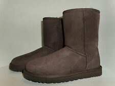 UGG Australia Authentic Womens US:8 SHORT Suede Leather Sheepskin BOOTS Ret$160