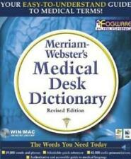 Merriam-Webster's Medical Desk Dictionary CD-ROM PC CD word definitions spelling
