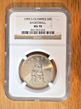 1995 S 50C Olympics/Basketball  NGC MS 70 Commemorative Coin