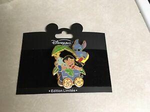 Disney Paris Lilo Stitch Train LE #697/900 Pin 2 of 13