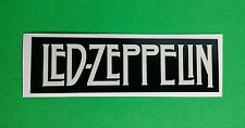 LED ZEPPELIN CREAM LETTERS DASH BLACK BAND NAME SMALL 1x3 MUSIC STICKER